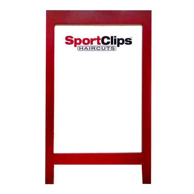 Red wooden A-frame-WB – 26.25″ X 44″ / MMP Signs